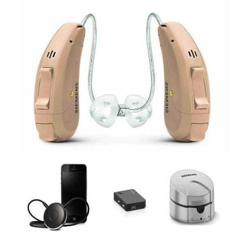 Siemens Signia Pure Primax 3Px with EasyTek, eCharger & TV Transmitter Hearing Aid - Pair