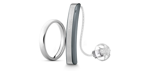 Signia Styletto Connect 7 Nx Hearing Aids (Pair) - Rechargeable, Slim, iPhone Compatible (Free Pocket Charger)