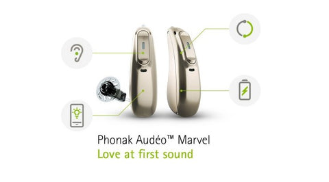 Phonak Audeo M Marvel M70 Hearing Aids (Stream Android & iPhone)