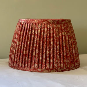 Small raspberry floral saree lampshade