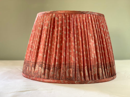Pink and Grey Saree Lampshade