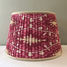 Load image into Gallery viewer, Pink silk Ikat lampshade