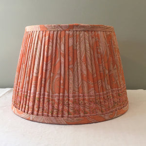 Pale orange paisley saree lampshade