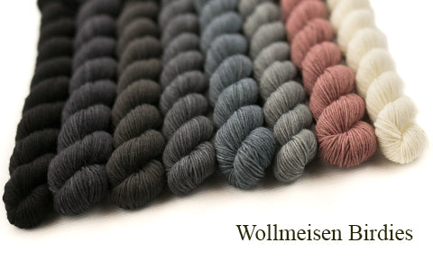 Men knit in black - Wollmeisen Birdies