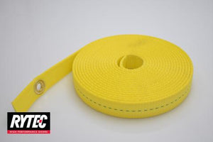 "Fast Seal Yellow Counterweight Strap @ 191"" complete with (1) grommet installed"