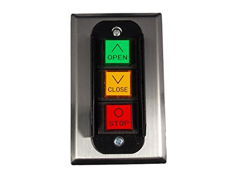 Image of MMTC PBC-3 Nema 1 Three Button Interior Flush Mount Control Station Momentary