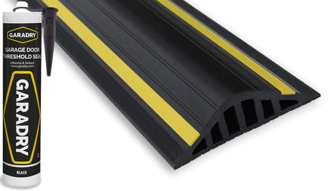 "Garadry 1 ½"" Garage Door Flood Barrier Threshold Kit 16'3"""