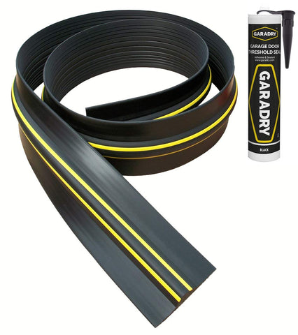 "Garadry ¾"" Garage Door Threshold Seal Kit 10'3"""