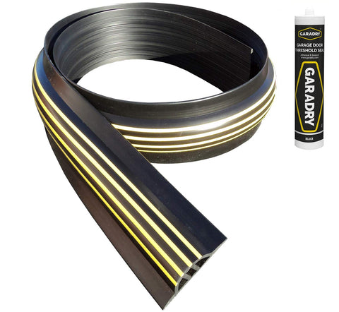"Garadry 1 ¼"" Garage Door Threshold Seal Kit 8'3"""