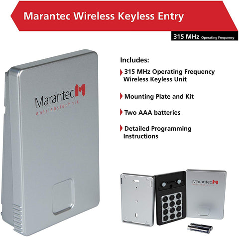Image of Marantec Wireless Keyless Entry System for Garage