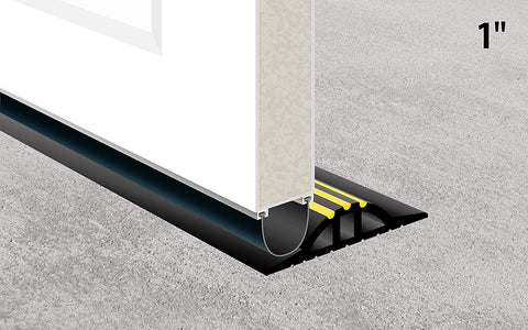 "Image of Garadry 1"" Garage Door Threshold Seal Kit"