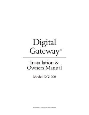 DIGITAL GATEWAY MANUAL