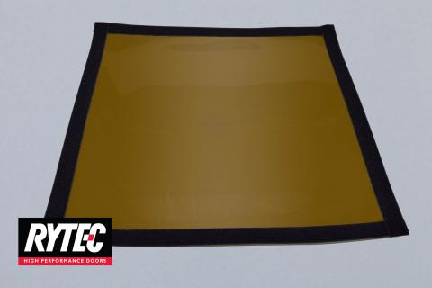 "Rytec Door 17"" x 17"" Amber Window with Velcro"
