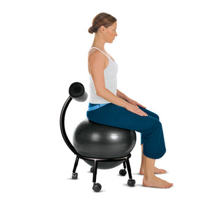 ZenZu Ball Chair, Burst Resistant, Eco-friendly 6P free Exercise Ball, Hand Pump Included