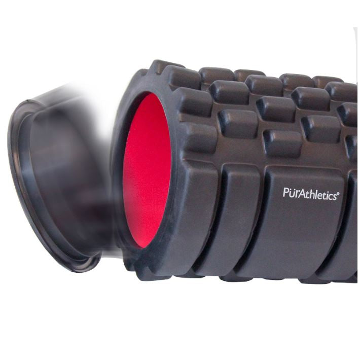 "Capped Foam Roller,13"", with storage area"