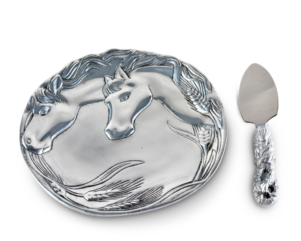 Horse Plate with Server