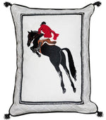 Vintage Equestrian Art Jumper Pillow