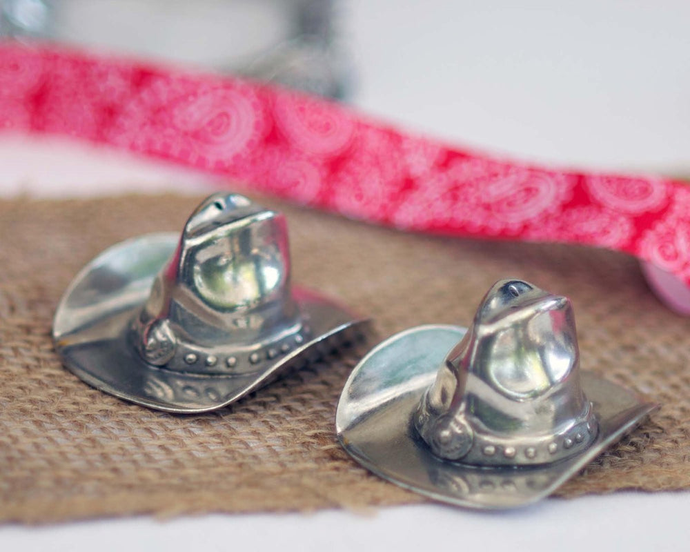 Pewter Cowboy Hat Salt and Pepper Shakers