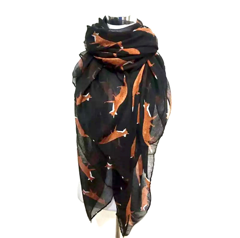 Fox Scarf - Black