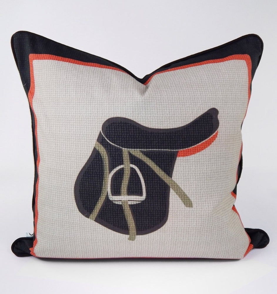 Equestrian Throw Pillow Cover