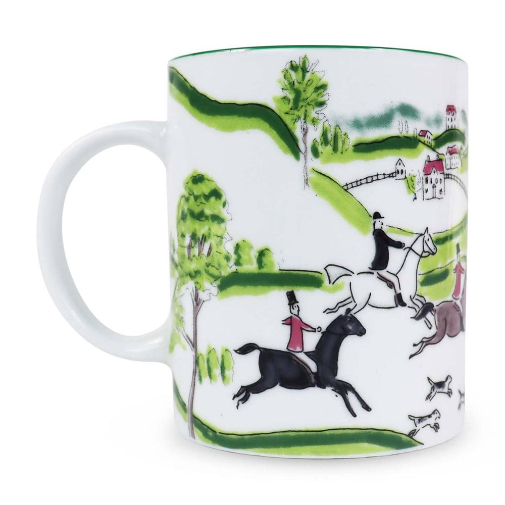 Hunt Scene Equestrian Mug- Set of 2