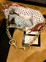 Snaffle Bit Gold Equestrian Necklace