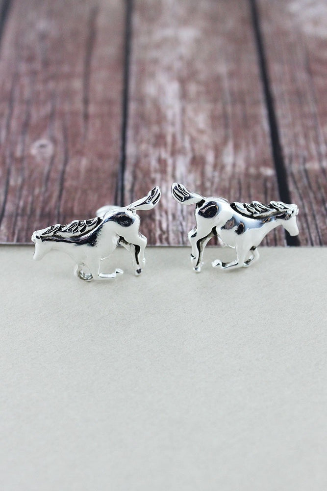 Equestrian Clip On Horse Earrings