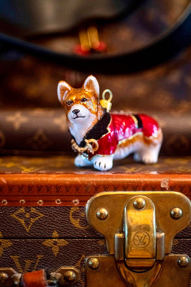 Corgi In English Riding Jacket Ornament