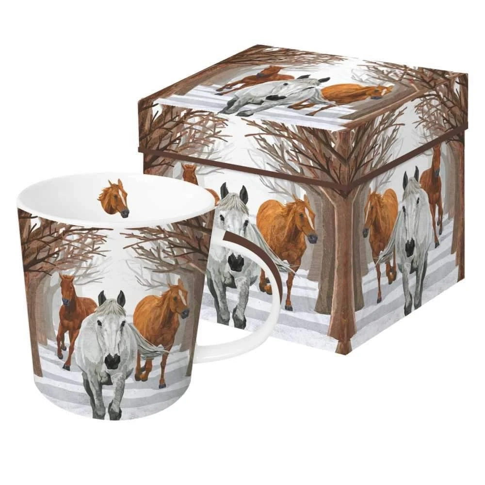 Winter Snow Horses Mug