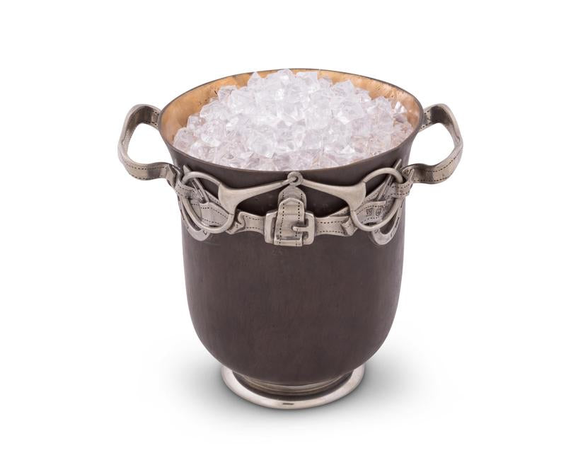 Bronze Equestrian Bit Ice Bucket