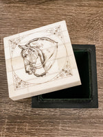 Horse Head Bone Trinket Box