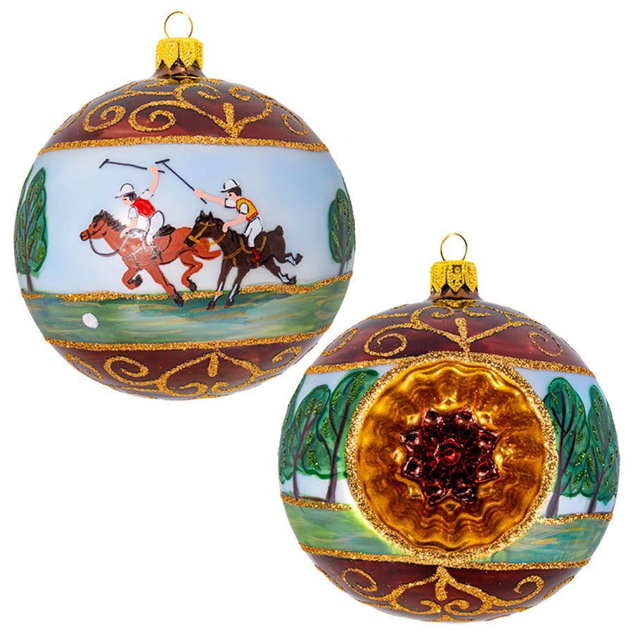 Running Polo Ponies Ornament