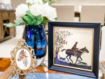 Antique Equestrian Lady with Horse Print  Framer