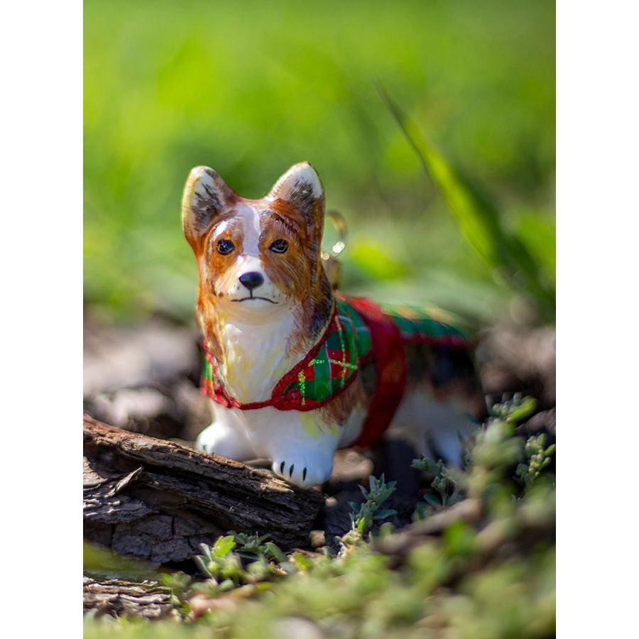 Corgi In Tartan Plaid Ornament