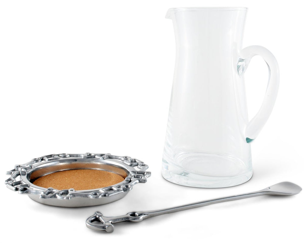Equestrian Pitcher Set with Ladle
