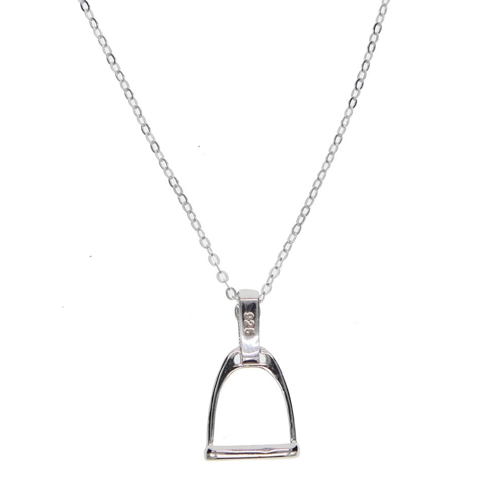 Small Sterling Silver Stirrup Necklace