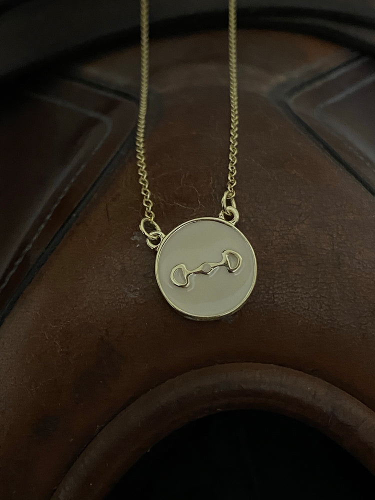 Ryder Snaffle Bit Gold Equestrian Necklace