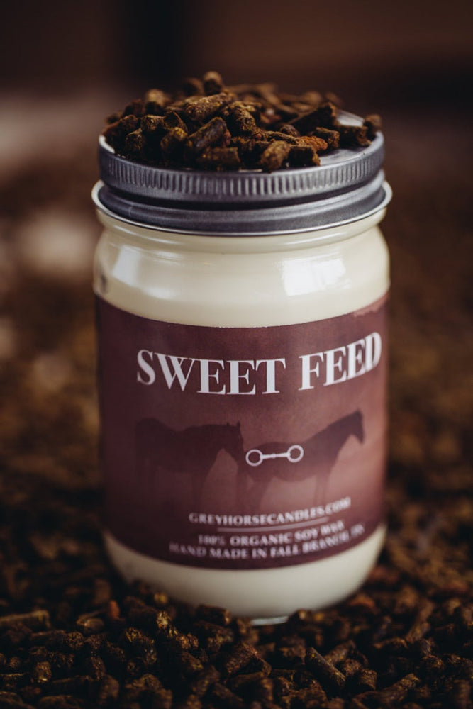 All Natural Equestrian Soy Candle - Sweet Feed