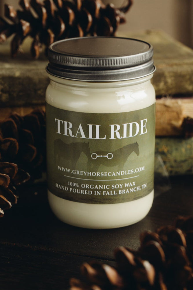 All Natural Equestrian Soy Candle - Trail Ride