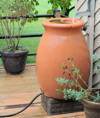 Agua 190 Litre Rain Barrel with Integrated Planter