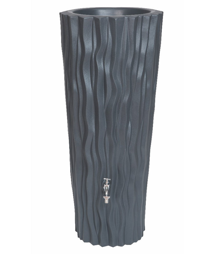 Alana 160 Litre Water Butt with Planter - Slate