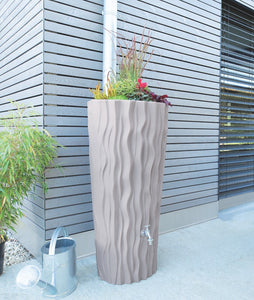 Alana 160 Litre Water Butt with Planter - Taupe
