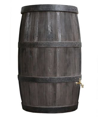 Burgundy 500 Litre Oak Barrel Effect Waterbutt