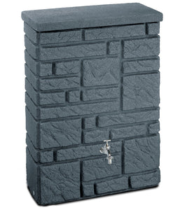 Maurano 300 Litre Stone-Effect Waterbutt - Charcoal