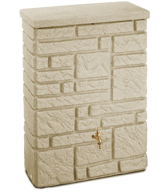 Maurano 300 Litre Stone-Effect Waterbutt - Sandstone