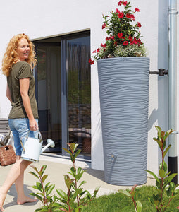 Natura 350 Litre Waterbutt with Integrated Planter - Ocean