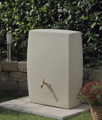 Noblesse 270 Litre Slimline Waterbutt with Integrated Planter - Sandstone