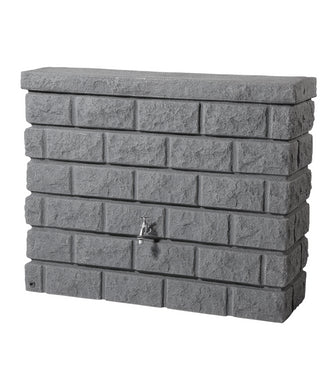Rocky Wall Tank 400 Litre Waterbutt - Granite