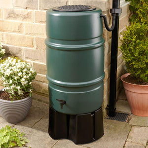 227 Litre Water Barrel Kit - includes Stand and Downpipe Connector