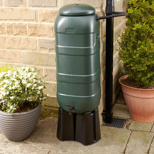 100 Litre Slimline Mini Rainsaver Kit - includes Stand and Downpipe Connector